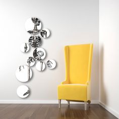 Separated wall decor on plates of fine china. Looks cool!