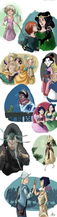 W.I.T.C.H. girls as Disney Princesses. No idea what board to pin this on #boardless #unpinnable