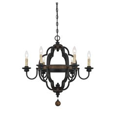 Illuminate the entryway with this chic chandelier, or set it over your kitchen island for a bold touch of elegance.