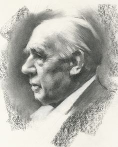 Charcoal Portrait of Niels Bohr - Jeff Haines