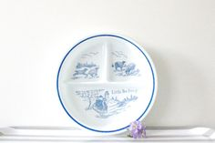 Vintage baby dish divided plate Little Bo Peep by MossAndBerry, $30.00