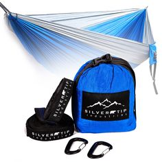 INSANE SALE!!! DOUBLE CAMPING HAMMOCK AND TREE STRAPS COMBO. ULTRA LIGHTWEIGHT PARACHUTE NYLON. 10' LONG x 6' WIDE, 550LB WEIGHT LIMIT. * This is an Amazon Affiliate link. Read more at the image link.