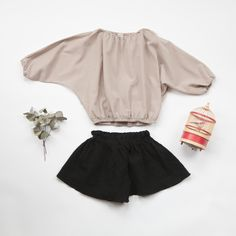 Guno wide blouse + Guno short culottes. www.lublue.co.uk