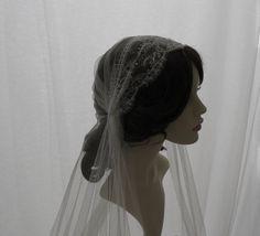 Vintage style veil -  couture bridal cap veil -1920s wedding  veil - Lady Mary. £130.00, via Etsy.