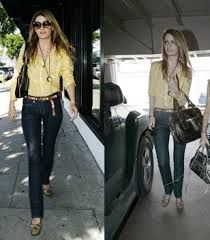 Image result for celebrities high waisted jeans