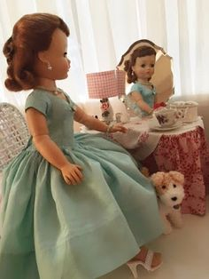 Antique Dolls, Vintage Dolls, Opera Dress, Picnic Outfits, Cross Stitch Fairy, Barbie, Vintage Picnic, Hat Tutorial, Vintage Nightgown