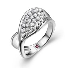 Ring from the TANGO Collection. Love the hidden Ruby on the inside of the band!