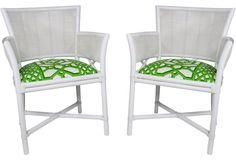 +Chairs barrel FicksReed 25.25x22x35.5 sold $1239wg ...  Ficks Reed Trellis Schumacher Chairs, Pr