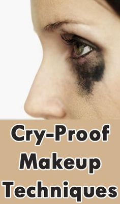 Cry Proof Makeup Techniques. I may some day need this. How about Wedding day?
