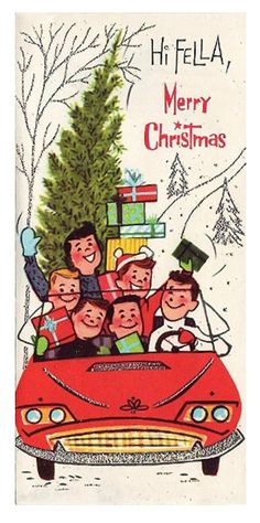 Vintage Christmas card. *1500 free paper dolls for Christmas gifts Arielle Gabriels The International Paper Doll Board also free Asian paper dolls at The China Adventures of Arielle Gabriel *