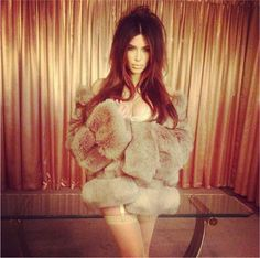 Kim Kardashian vintage photo shoot
