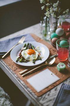 Fortunate Feast : Spring | Second Course | Grilled Pancetta Wrapped Asparagus with Fried Farm Fresh Egg