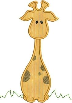 Bolo the Giraffe Applique designs 2 sizes by DBembroideryDesigns, $3.99