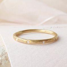 Honey Fairtrade 18ct Gold And Diamond Wedding Ring - less ordinary diamonds