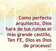 Dios es Dios de procesos
