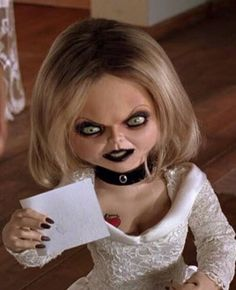 Grace Chabot bride of Chucky...Showing her true evil face You are mean and ugly inside and out! Your time is coming. Your significant other will find out everything.