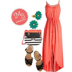Fire and Spice Dress, Come Out and Plait Sandal in Onyx, Cookie Decorating Contest Bag, Dance Fleur Fab Earrings    #maxi #casualchic #turquoise