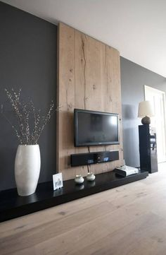 design home living room ~ design home living room ; design home living room wall decor ; design home living room small spaces Home Living Room, Living Room Designs, Living Room Decor, Apartment Living, Dining Room, Cheap Apartment, Tv On Wall Ideas Living Room, Feature Wall Living Room, Living Room Accent Wall