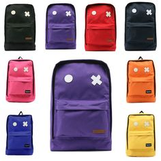 Mens Womens Vivid Square Backpacks Funny School Book Bag Rucksack Cool Satchel - US $16.72