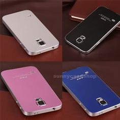 Ultra-thin Metal Aluminum Case Back Cover For Samsung Galaxy S5 i9600 Note 2 3