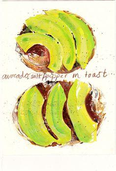 I heart avocado toast