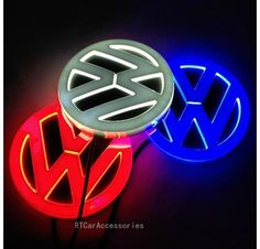 [RECOMMENDED] Free Shipping VW Golf Magotan CC Tiguan Bora Scirocco Logo Badge Lamp 4D VW Volkswagen LED Lighted Emblem $22.99