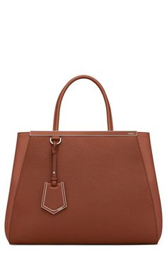 9f6138e354 Fendi  2Jours Elite  Leather Shopper