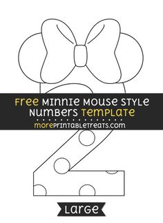 Minnie Mouse Style Number 2 Template - Large