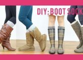 DIY boot socks from old sweaters that you never ever use