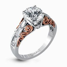 MR2607 - Engagement Ring - Duchess Collection #WeddingRings #EngagementRings #DiamondRings #SimonG #SimonGJewelry