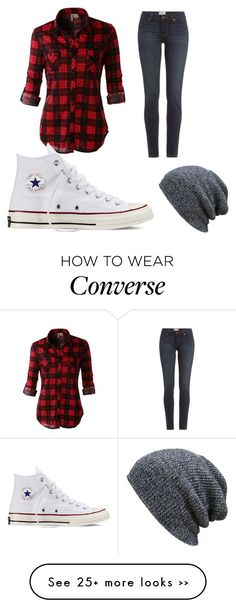 """Casual day outfit"" by courtzd on Polyvore featuring LE3NO, Paige Denim and Converse"