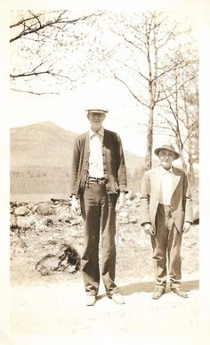 "Vintage Snapshot ""The Long & Short Of It"" Very Tall Man Standing Next To Shorter Man Funny Found Photo Vernacular Photography by SunshineVintagePhoto on Etsy https://www.etsy.com/listing/598321499/vintage-snapshot-the-long-short-of-it"