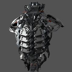 ArtStation - Mechanical Exoskeleton, Cyril Lavanant