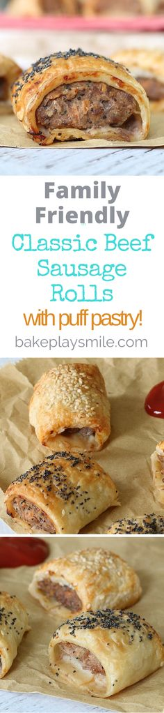 This is my go-to homemade sausage roll recipe - everyone loves them and they make the most perfect party food! #easy #sausage #roll #recipe #party #food #beef #conventional #thermomix