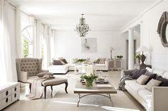 White in Madrid | Inspiring Interiors | White & Soft Grey Living Room