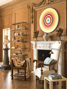 Expect the unexpected from Richard Shapiro. For the Drawing Room, Shapiro assembles a well-curated mix of antique furnishings and museum-quality art,   - Veranda.com