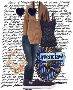 """Ravenclaw Casual"" by percyblakeney on Polyvore"