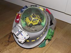 Herbie 'The Love Bug' Snowglobe with Moving Car and Herbie Lights