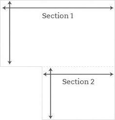 sq feet diagram