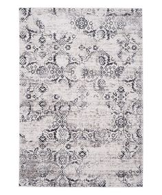 Another great find on #zulily! Charcoal & Cream Trey Floral Rug by Safavieh Rugs #zulilyfinds