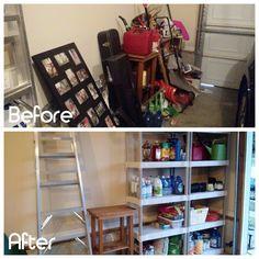 My latest project! One side of a garage completed! #professionalorganizer #garagestoragesolutions #getorganized
