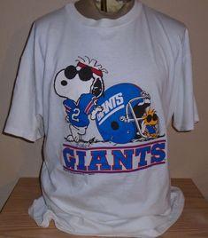 b1a45b8b5 vintage 1990s NY giants football snoopy 2xl t shirt. Giants FootballSnoopy1990sNflNfl  Football