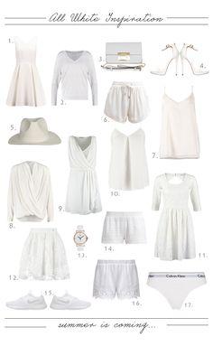 All White Inspiration <3 http://monasdailystyle.fitfashion.fi/2015/05/24/all-white-inspiration/