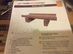 Bridge card kit by Model Railway Scenery Acquired from Sevenoaks MRS on Sunday 10/07/16
