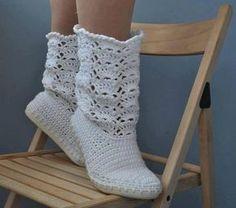 Como hacer botas tejidas con plantillas - Imagui