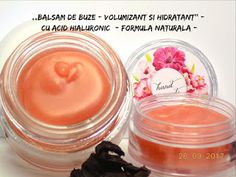 BEAUTICIAN. STELA: ,,BALSAM DE BUZE - VOLUMIZANT si HIDRATANT'' (cu: ... Natural Makeup, Acid Hialuronic, Soap, Bottle, How To Make, Handmade, Hydro Dipping, Cara Makeup Natural, Hand Made