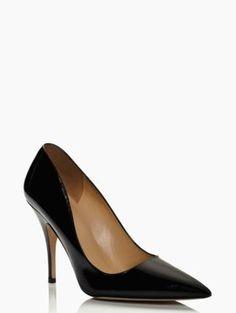 designer womens heels - kate spade licorice