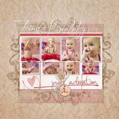 First birthday       Fiber Fabulous Papers by Liv.edesigns  http://www.snapclicksupply.com/fiber-fabulous-papers/   Also from Liv.edesigns: T+Mini3, T+ Mini2, Little Dancer   From Carina Gardner Imprint 6  Font Before the rain