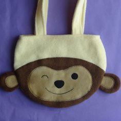 Monkey Purse - Toddler Girl Children Animal Fleece Purse