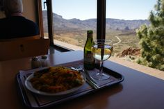 Paella and a white wine... highest restaurant in Spain (end of cable car to Mount Teide, Tenerife)